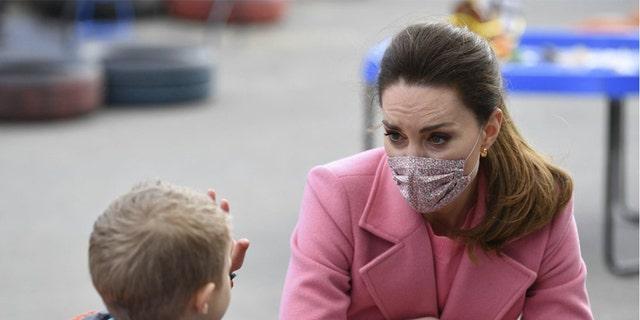 Kate Middleton Visits U.K. School21 March 2021