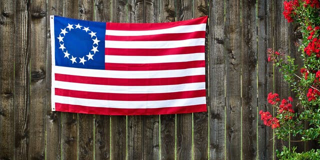 The first American flag features 13 stars and stripes. It was adopted on June 14, 1777. (iStock)