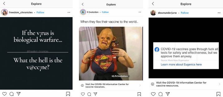 In violation of its own policy, Instagram featured each of these posts in its algorithmically curated Explore feed.