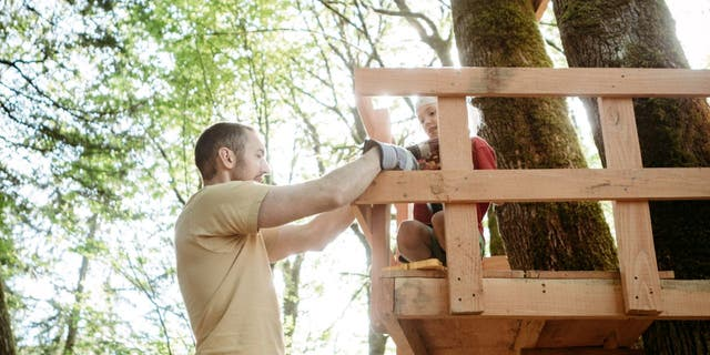 One dad named Dave (not pictured) is using public shaming for a neighbor who allegedly reported his family's tree fort to their homeowner association, according to a viral Reddit post. (iStock)