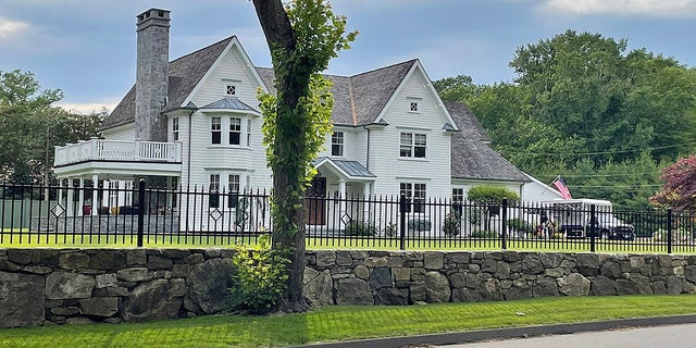 The Westport, Connecticut, home where two bodies were found Thursday. (Connor Ryan/Fox News)
