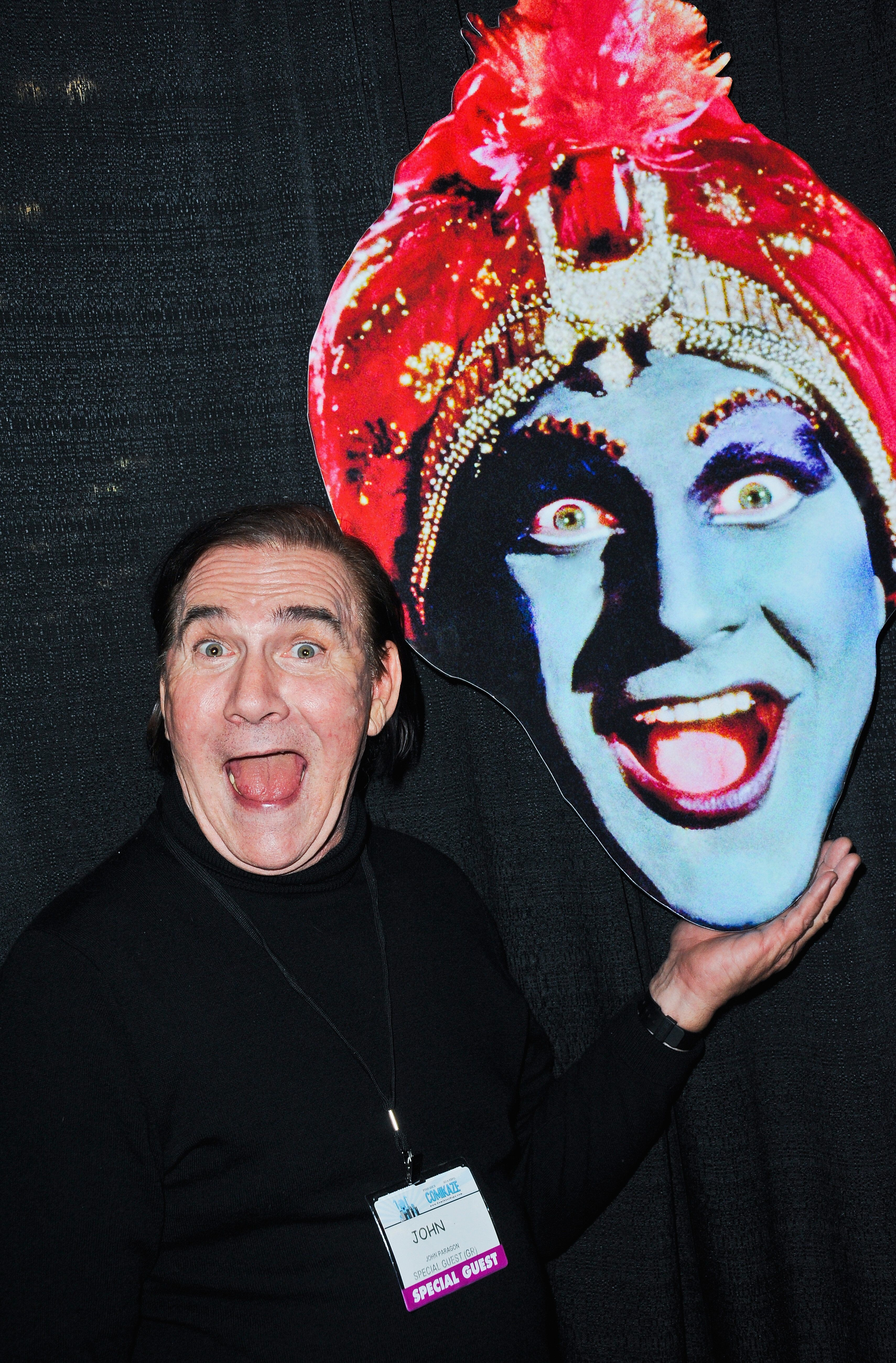 """Actor John Paragon, who played Jambi the Genie on """"Pee-wee's Playhouse,"""" attends Day 2 of the Third Annual Stan Lee's Comikaz"""