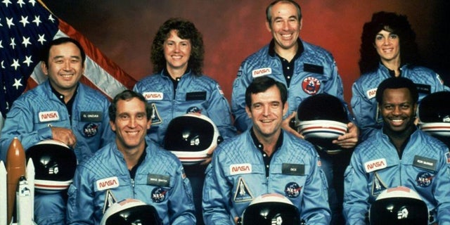 The crew of the ill-fated space shuttle Challenger.