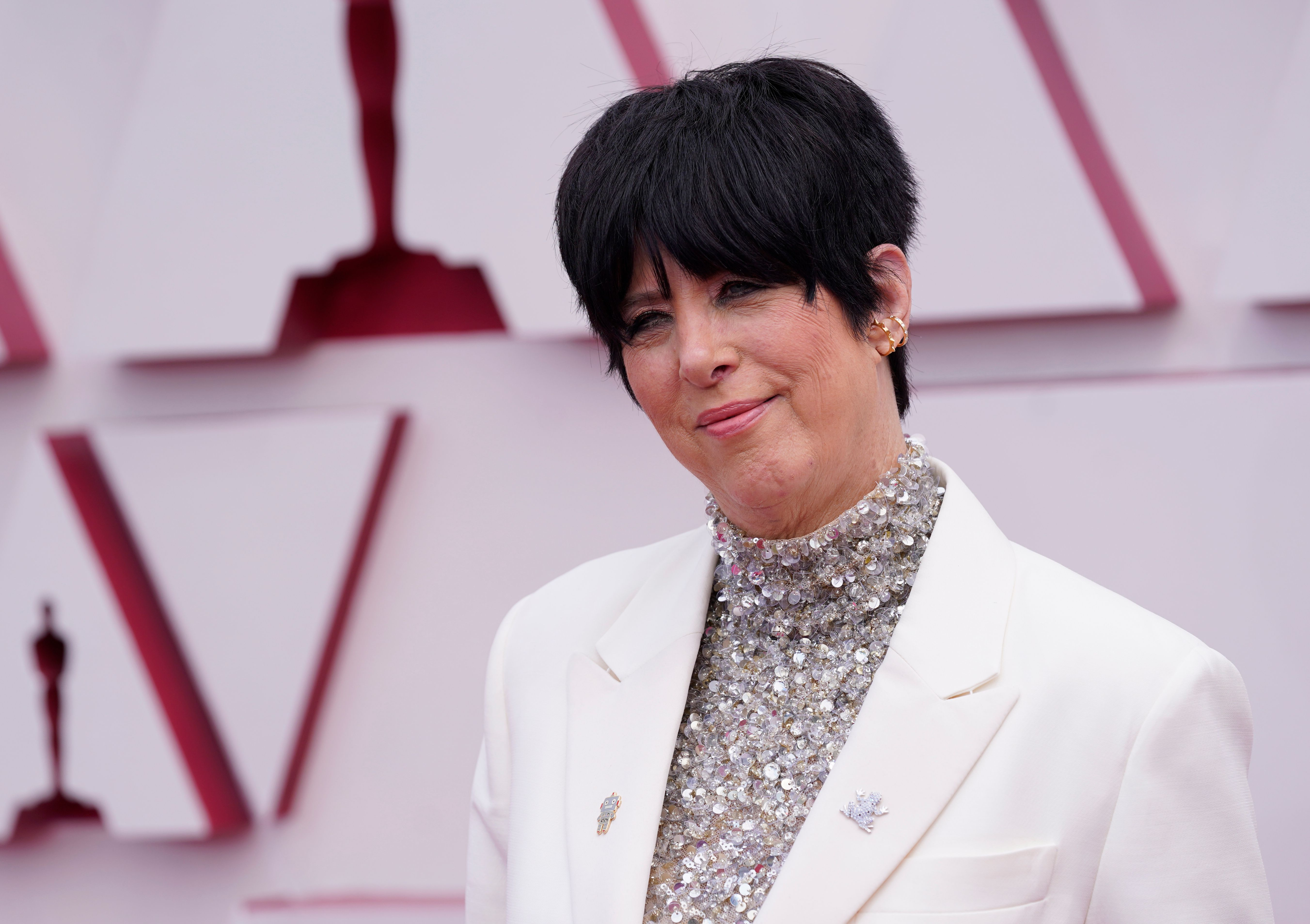Diane Warren arriving at the Oscars at Union Station in Los Angeles on April 25. (AP Photo/Chris Pizzello, Pool, File)