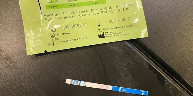 Across the country more states are beginning to legalize drug testing strips that can detect the presence of the potent opioid Fentanyl to avoid deadly overdoses (Stephanie Bennett/ Fox News).