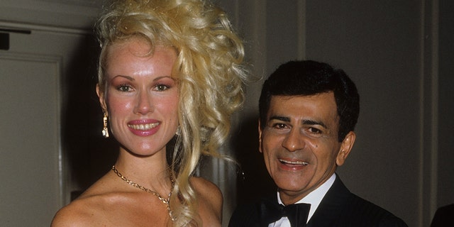 Disc jockey, TV personality and actor Casey Kasem and wife Jean Kasem attend the St. Jude Children's Hospital Benefit Gala on August 30, 1986, at the Century Plaza Hotel in Los Angeles, California.