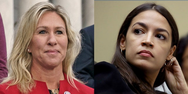 U.S. Reps. Marjorie Taylor Greene, R-Ga., left, and Alexandria Ocasio-Cortez, D-N.Y., have frequently clashed since becoming U.S. House colleagues.