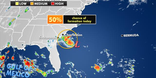The storm off the Southeast coast. (Fox News)