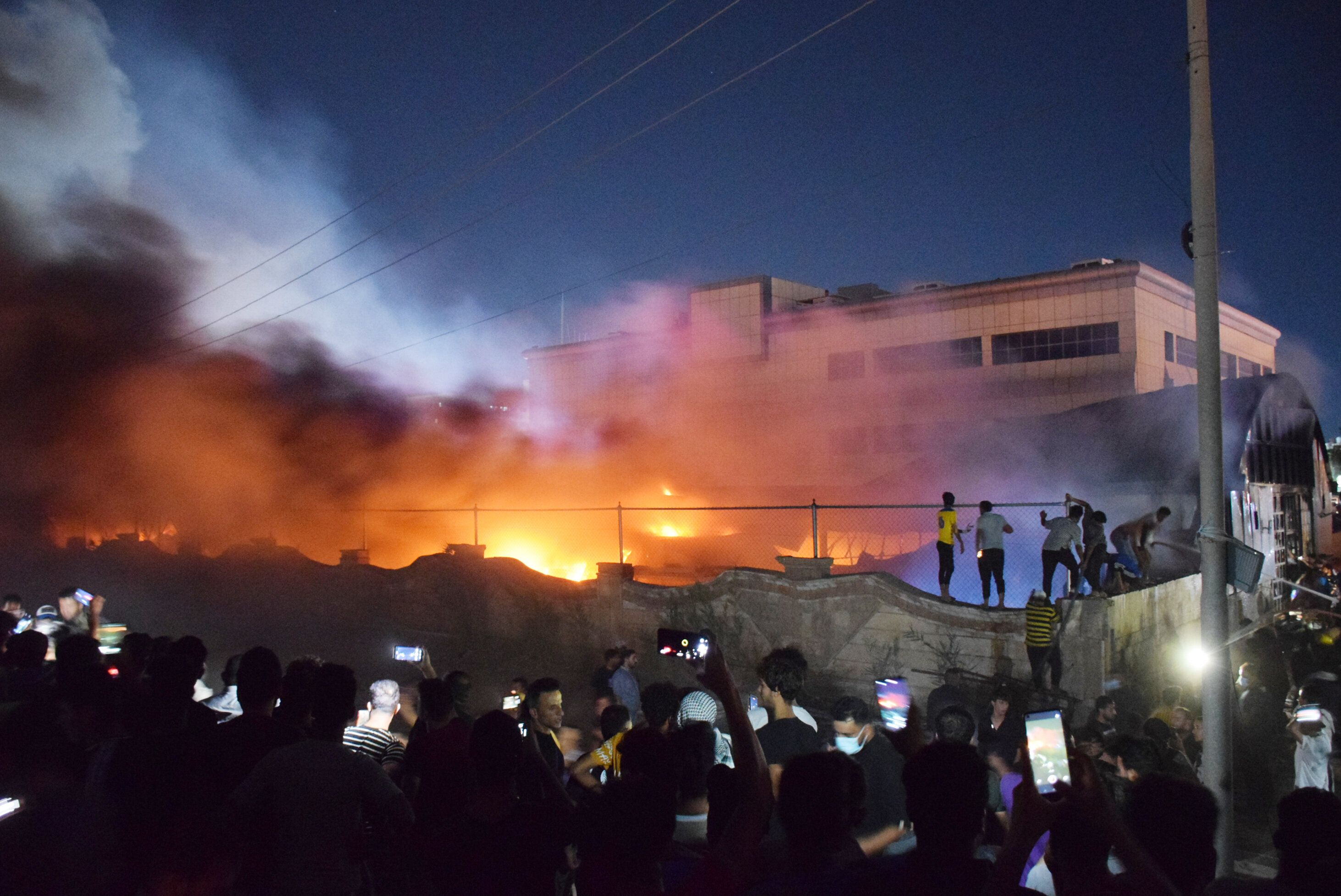 A fire broke out in a COVID-19 isolation ward of Al-Hussein Hospital in Nasiriya city in Dhi Qar governorate, Iraq on Tuesday
