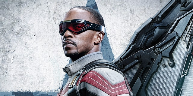 Anthony Mackie as Sam Wilson in Disney+'s 'The Falcon and the Winter Soldier.' He was considered a likely contentder for an Emmy nomination but recevied no acknowledgement.