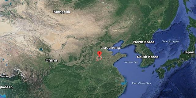 Satellite photo of Liaocheng, China (Google Earth)
