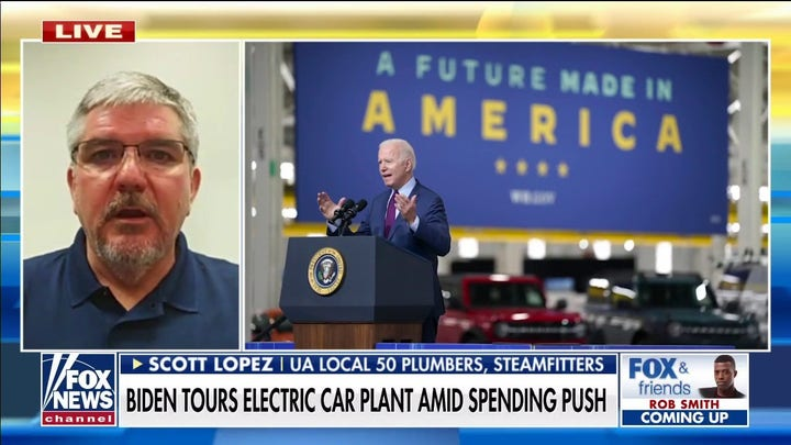 Union calls on Biden to protect pipeline jobs after visit to Michigan Ford plant