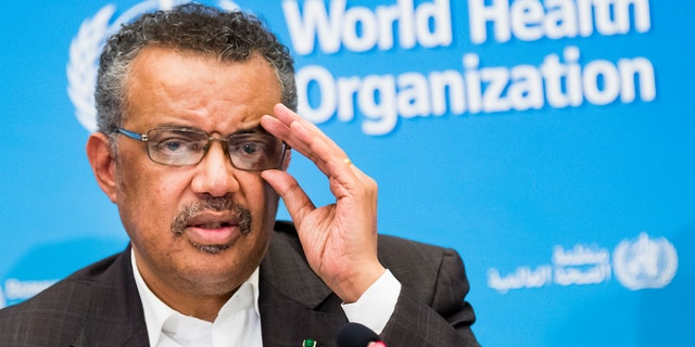 WHO Director-General Tedros Adhanom Ghebreyesus revealed that the international team that traveled to China earlier this year to investigate the origins of the virus did have trouble accessing raw data from the Chinese government. (Jean-Christophe Bott/Keystone via AP)