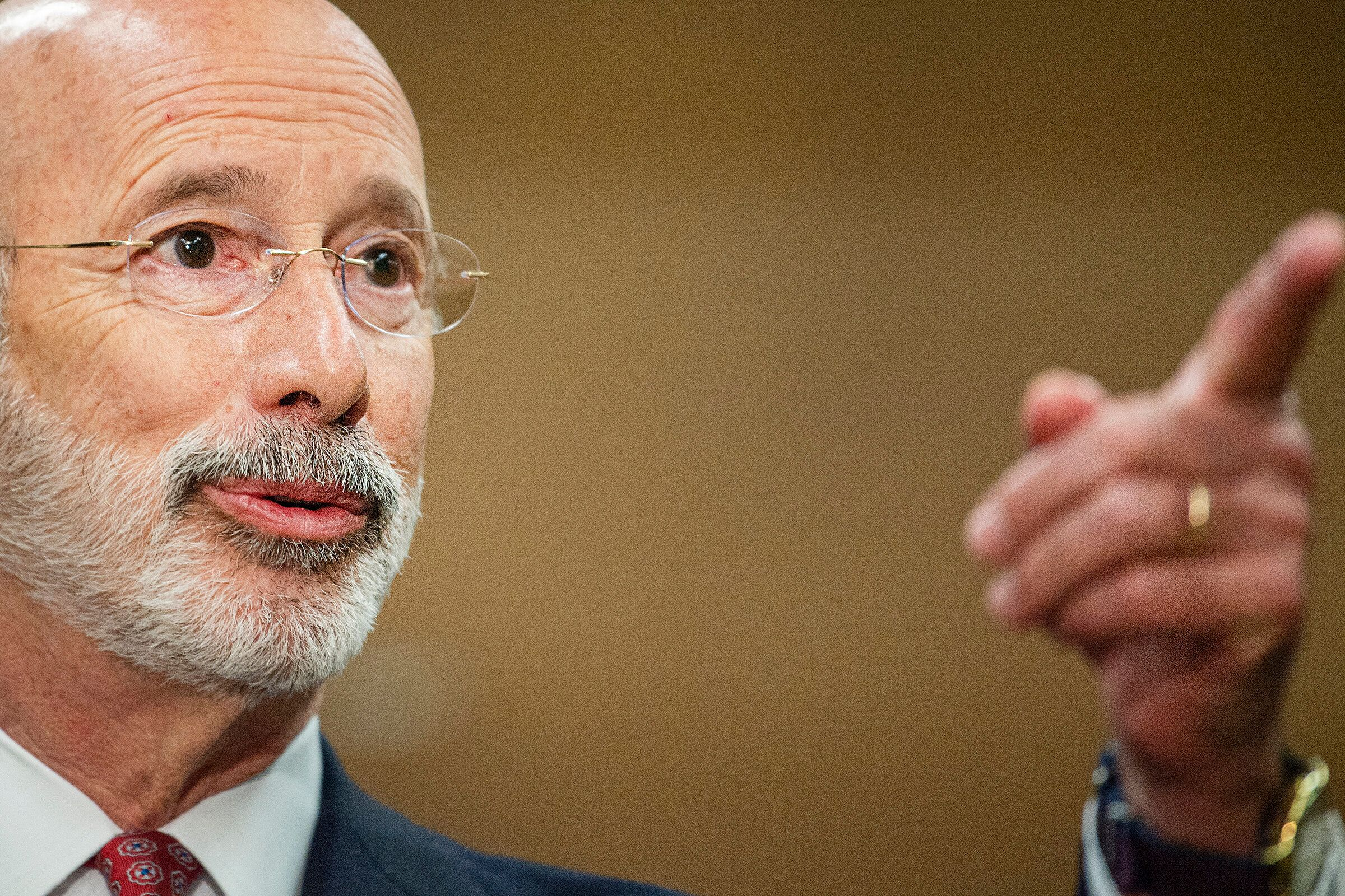 Pennsylvania Gov. Tom Wolf is among the Democrats who have vetoed — or promised to veto — any new voter restricti