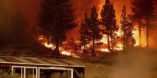 The Tamarack Fire sent heavy smoke over Lake Tahoe and into Nevada.