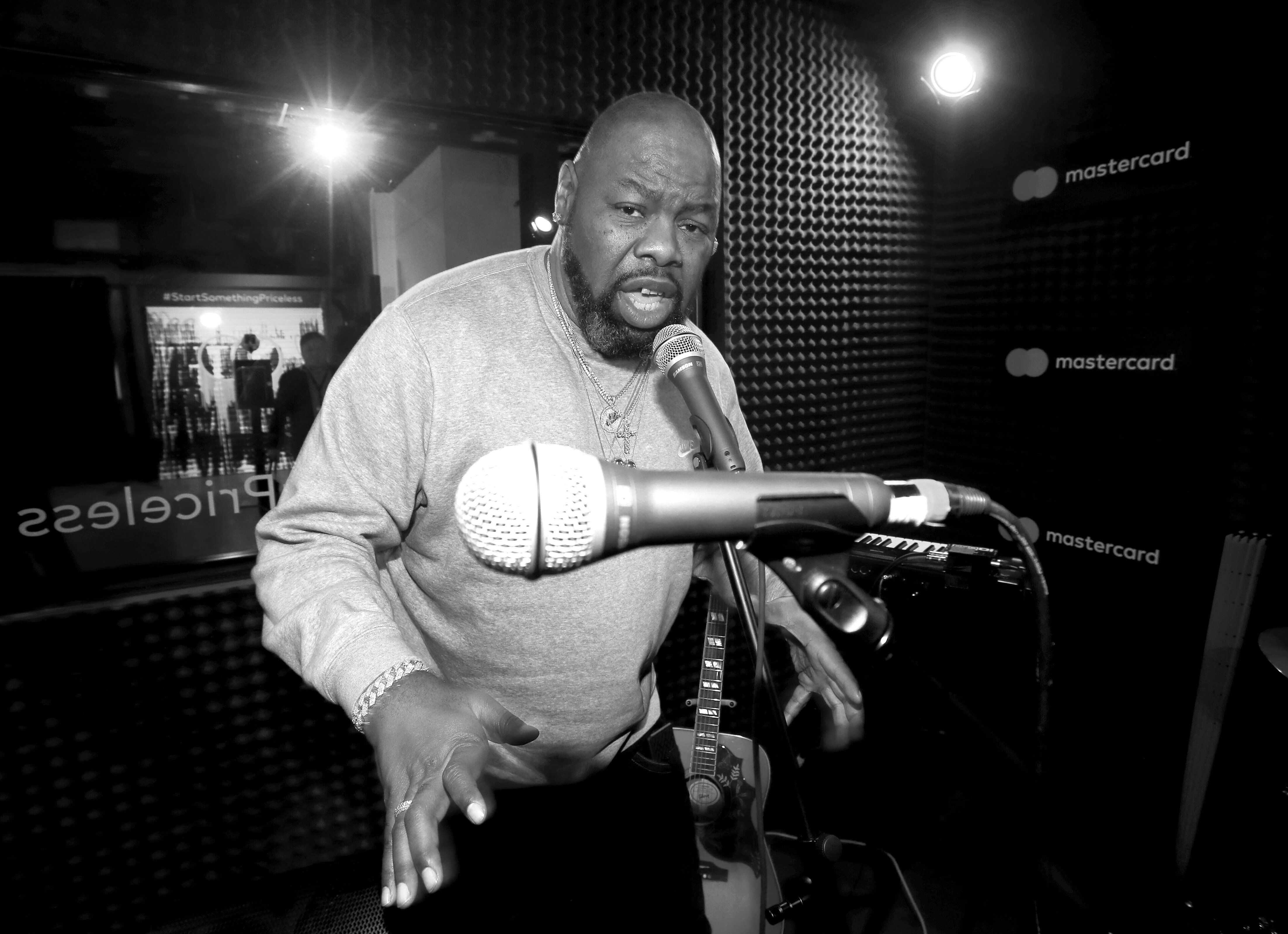 """Biz Markie, a hip-hop staple known for his beatboxing prowess, turntable mastery and the 1989 classic """"Just a Friend,&r"""