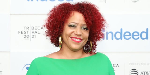 """Nikole Hannah-Jones attends the """"Neutral Ground"""" premiere during the 2021 Tribeca Festival at Pier 76 on June 19, 2021 in New York City. (Photo by Monica Schipper/Getty Images for Tribeca Festival)"""
