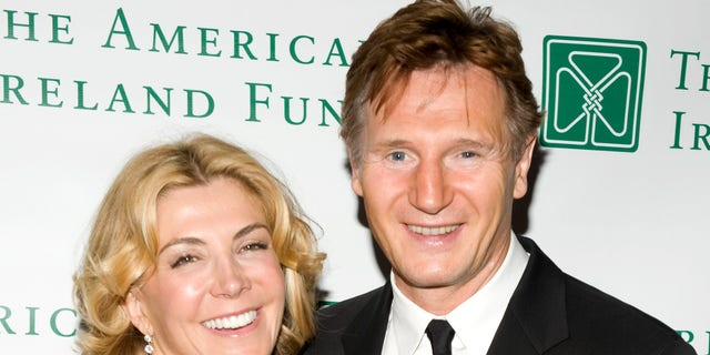 Actor Liam Neeson and actress Natasha Richardson attend the 33rd Annual American Ireland Fund Gala at The Tent at Lincoln Center on May 08, 2008 in New York City.