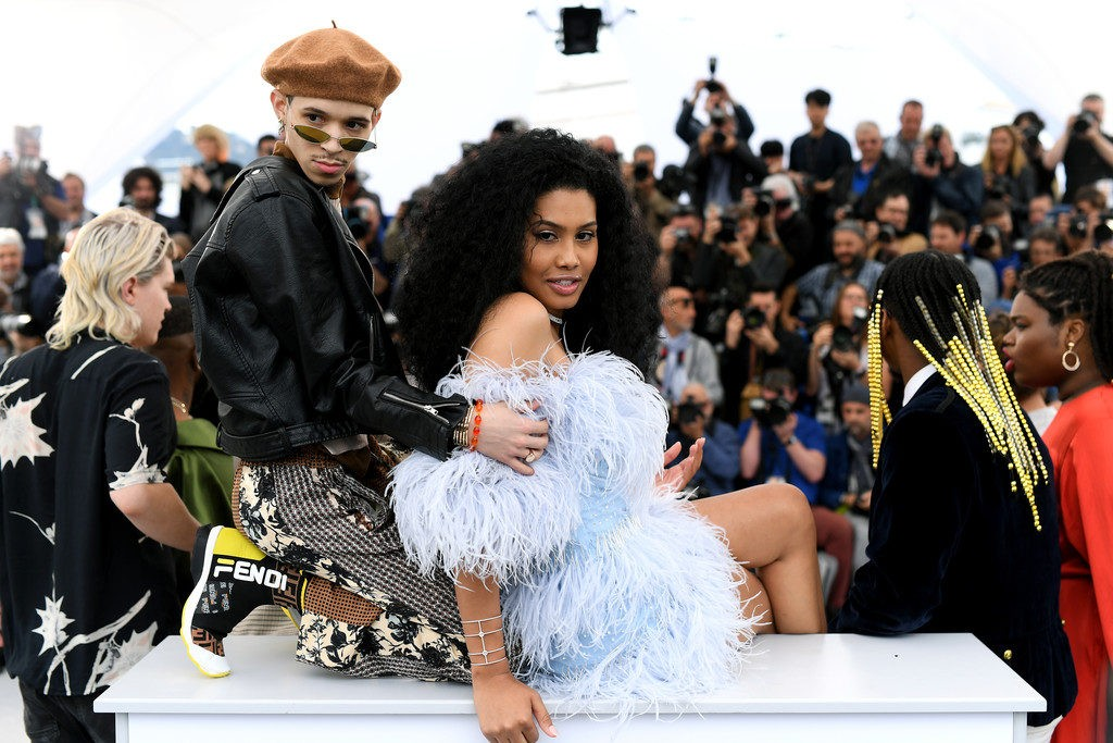"""CANNES, FRANCE - MAY 19: Eddie Plaza and Lenya Bloom attend the photocall for """"Port Authority"""" during the 72nd annual Cannes Film Festival on May 19, 2019 in Cannes, France. (Photo by Pascal Le Segretain/Getty Images)"""