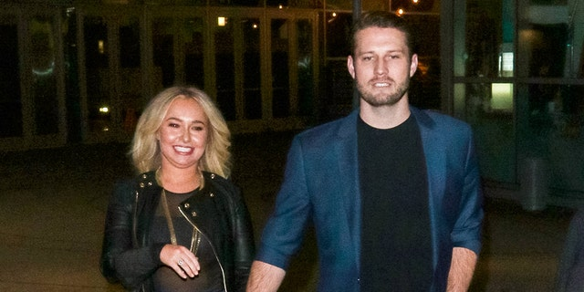 Hayden Panettiere and Brian Hickerson are seen on January 31, 2019 in Los Angeles.
