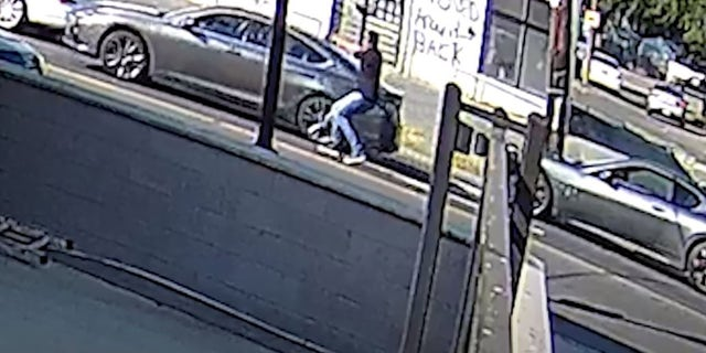 A gunman appeared to open fire on another vehicle in broad daylight on Wednesday. (DC Metropolitan Police Department)