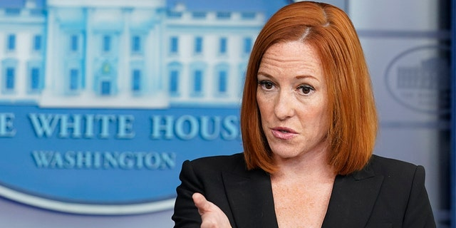 White House press secretary Jen Psaki speaks during the daily briefing at the White House in Washington, Tuesday, July 20, 2021. Psaki in a Thursday press conference did not deny that the White House had discussions about changing its stance on COVID mask-wearing to encourage it for vaccinated people. (AP Photo/Susan Walsh)