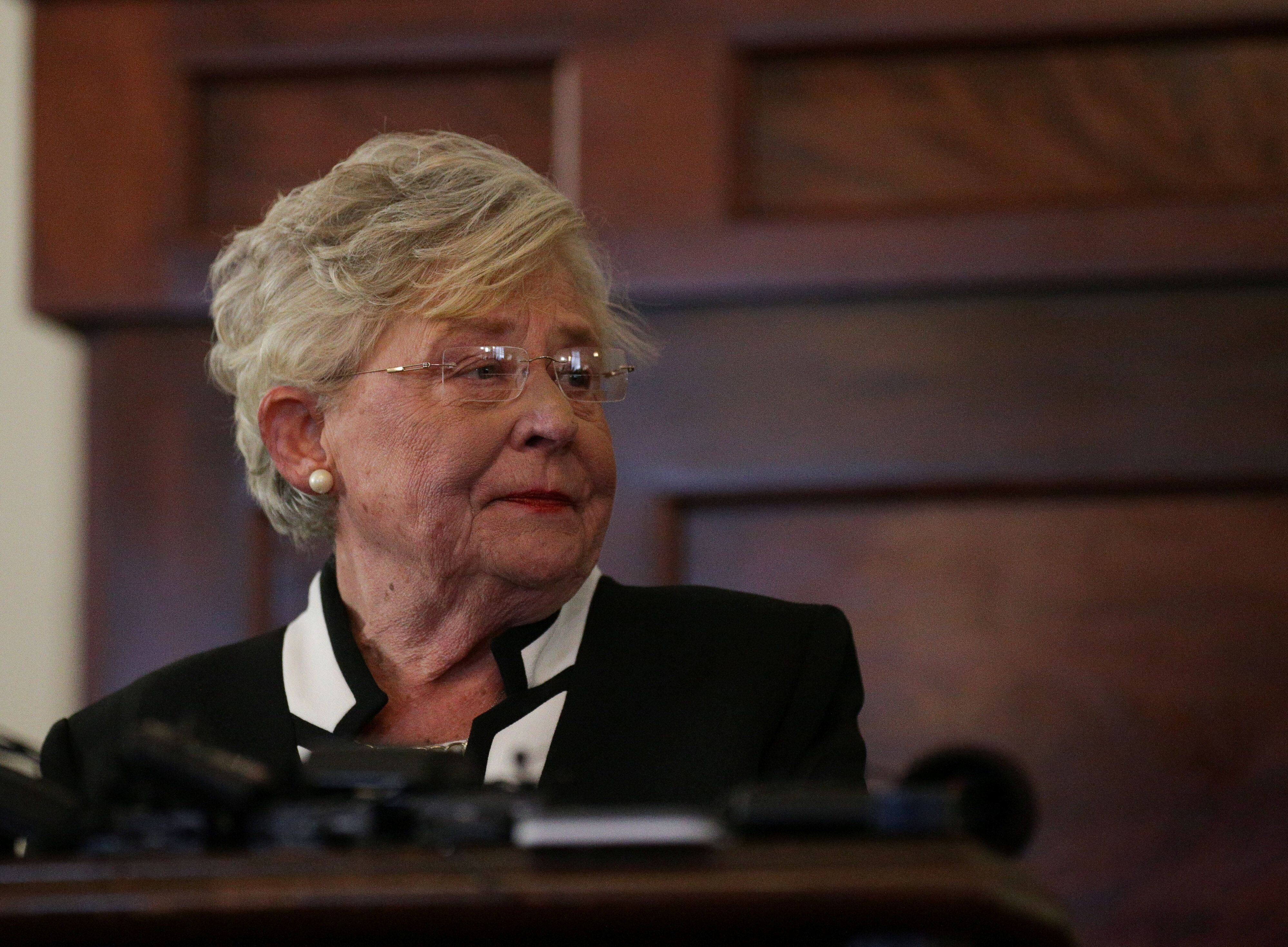 Alabama Gov. Kay Ivey (R), who was vaccinated in December, threw some shade at Fox News and other right-wing media outlets fo
