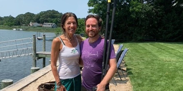 John Di Leonardo from Long Island Orchestrating for Nature and Karen Testa from Turtle Rescue of the Hamptons, both non profit animal rescues. (Karen Testa of Turtle Rescue of the Hamptons).