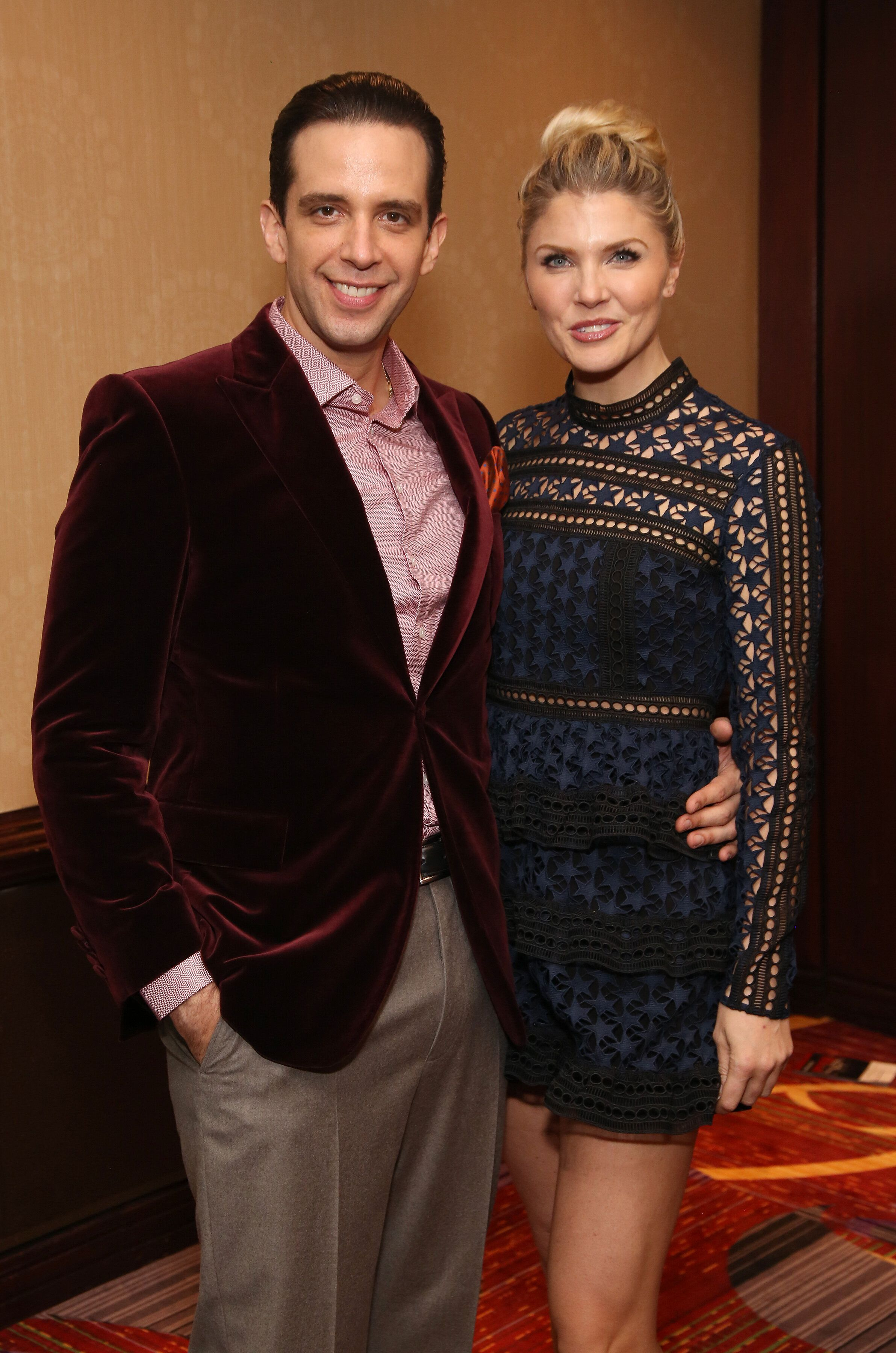 """Nick Cordero and Amanda Kloots at the Broadway opening night after-party for """"A Bronx Tale"""" in New York City in 2016."""