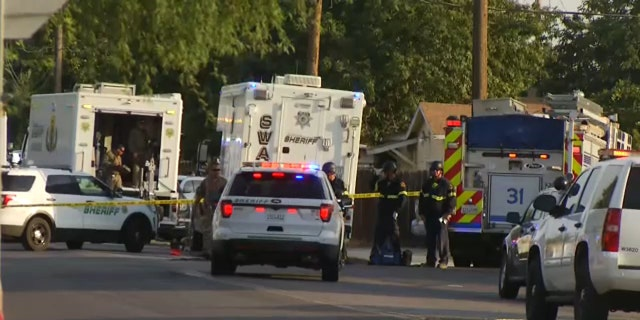 Two Kern County Sheriff's deputies have been injured after a shooting at a home in Wasco, California.