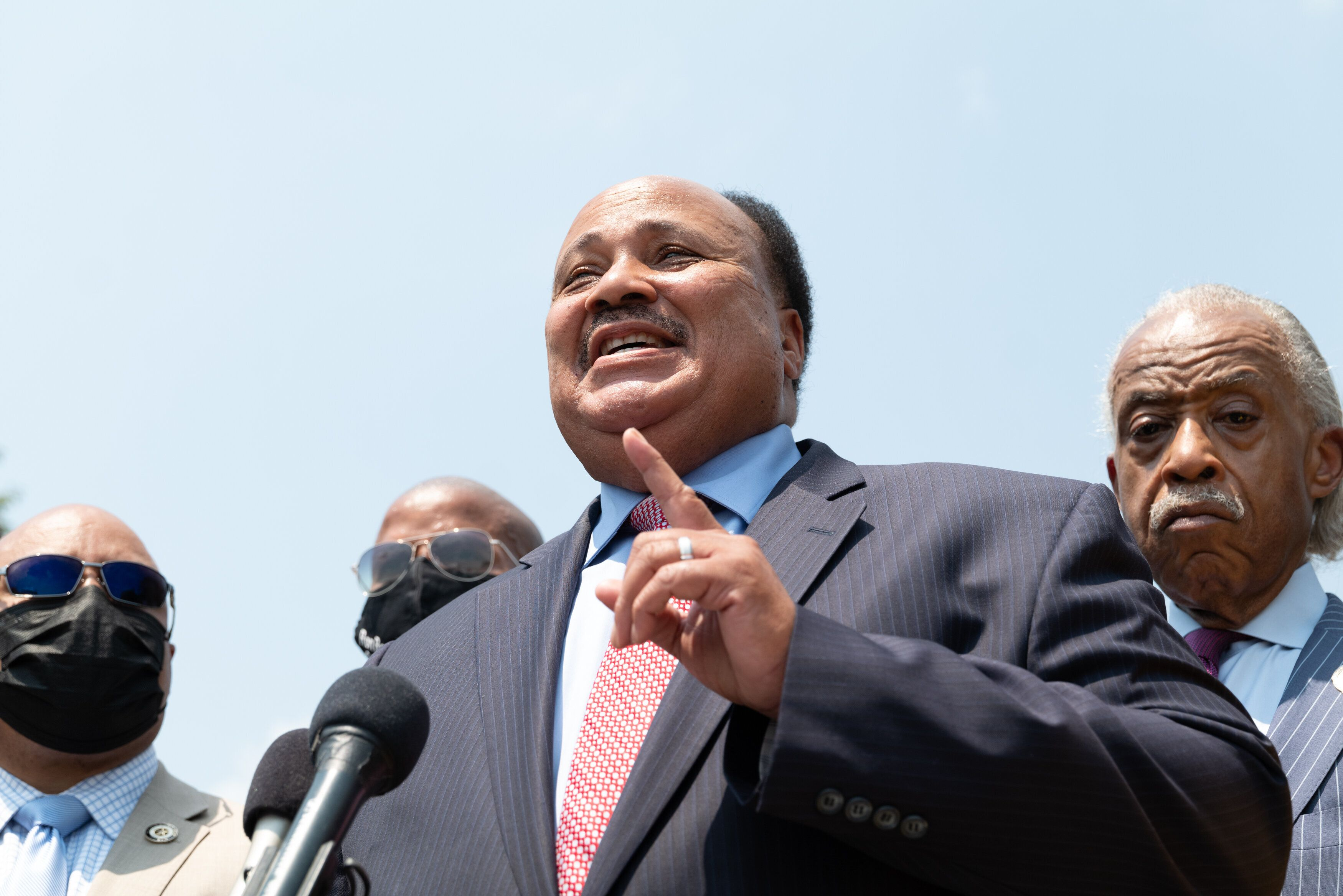 Martin Luther King III joined Texas Democrats at the memorial honoring his father to urge Democrats to pass the For the Peopl