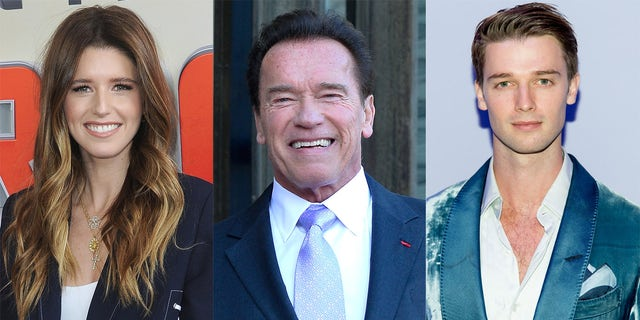 Arnold Schwarzenegger's famous children Katherine and Patrick shared sweet birthday messages online. (Getty Images)