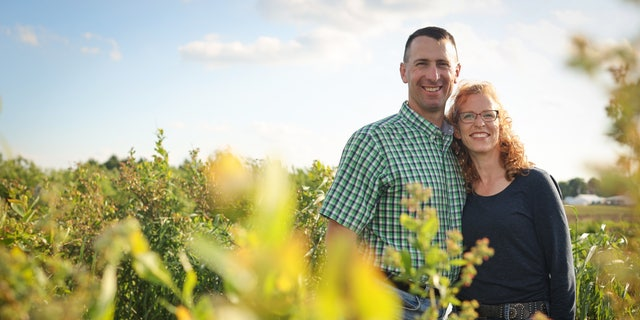 Steve and Bridget Tennes at Country Mill Farms. The Tennes family is in a long-running legal battle with East Lansing, Michigan.