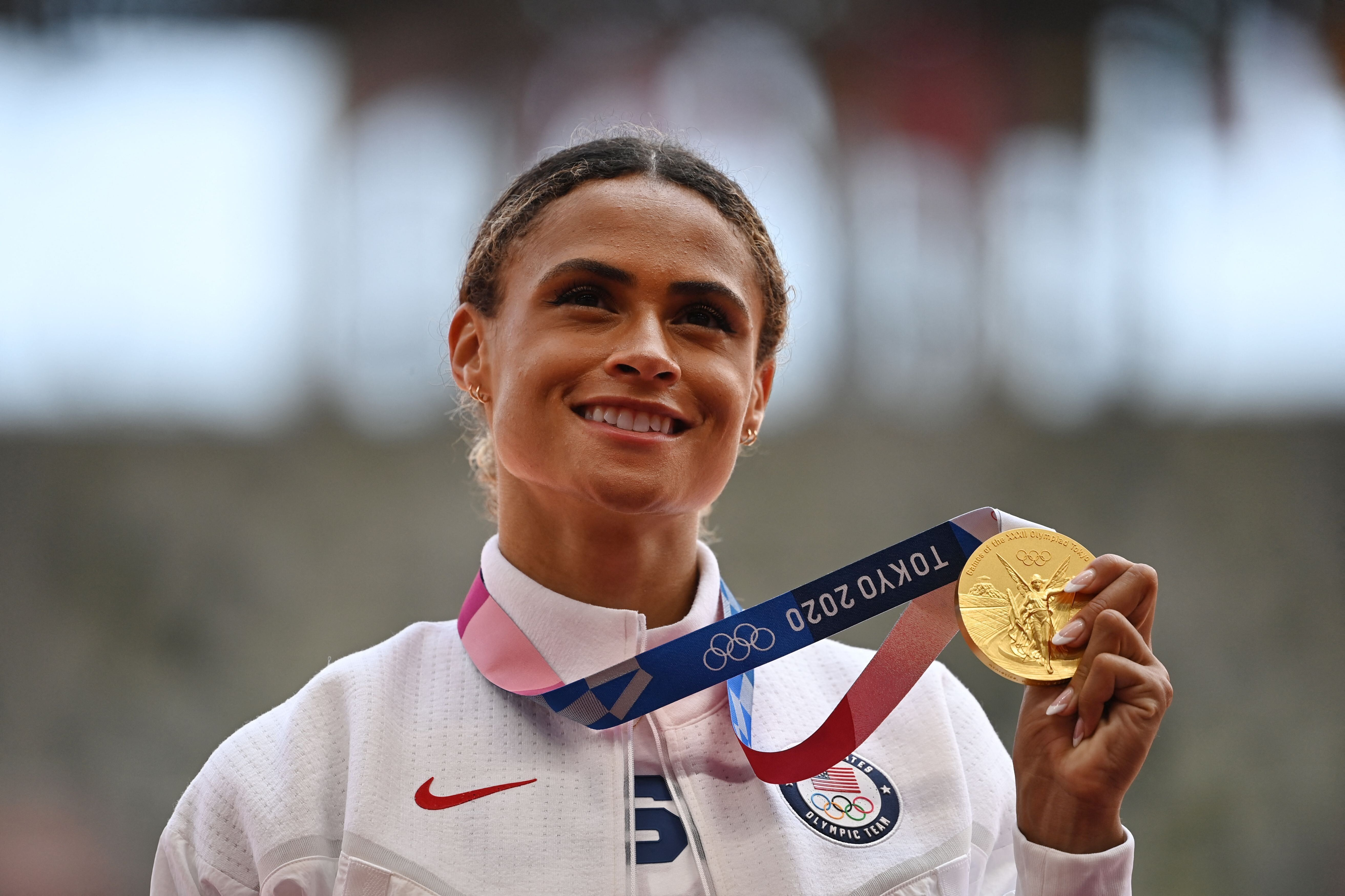 Gold medallist USA's Sydney Mclaughlin won the women's 400m hurdles event during the Tokyo 2020 Olympic Games on Wednesday.