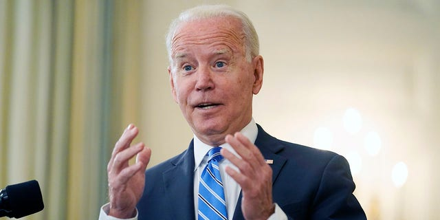 President Joe Biden speaks about the economy and his infrastructure agenda in the State Dining Room of the White House, in Washington, Monday, July 19th, 2021. Biden said he did not remember advisers telling him to leave troops in Afghanistan, despite reports that is what his advisers told him. (AP Photo/Andrew Harnik)
