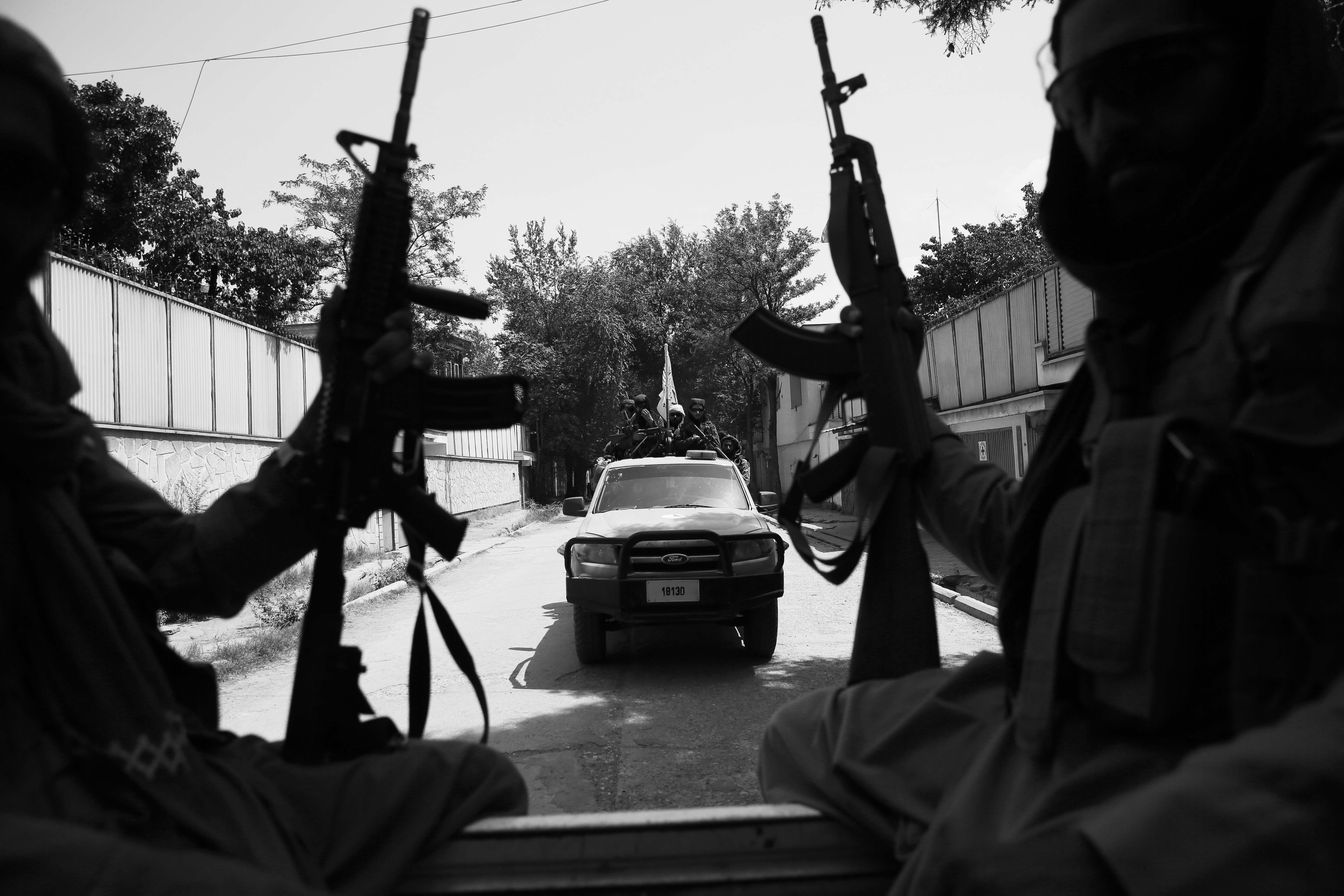 Taliban fighters on patrol in Kabul, Afghanistan, on Thursday.