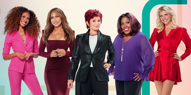 Carrie Ann Inaba (second from left) most recently served as a co-host alongside Elaine Wentworth (left), Sharon Osbourne (center), Sheryl Underwood (second from right) and Amanda Kloots (right). Osbourne also recently exited.