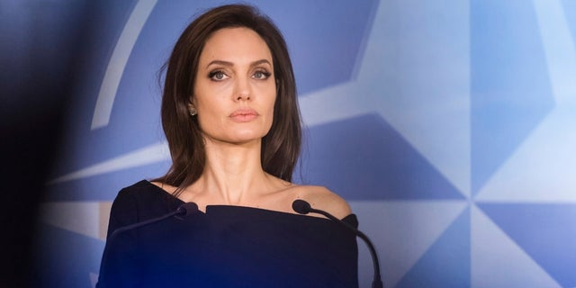 Academy Award-winning actress Angelina Jolie hinted that she was open to making a splash in the political realm. (Associated Press)