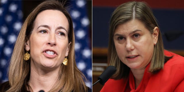 U.S. Reps. Mikie Sherrill of New Jersey, left, and Elissa Slotkin of Michigan have been critical of President Biden's Aug. 31 Afghanistan withdrawal deadline.