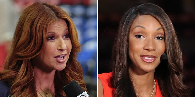 Rachel Nichols was caught venting about Maria Taylor during a private phone call that she didn't know was being recorded by ESPN. (Getty Images)