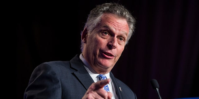 Former Virginia Gov. Terry McAuliffe speaks during the North American Building Trades Unions Conference at the Washington Hilton April 10, 2019 in Washington, D.C.