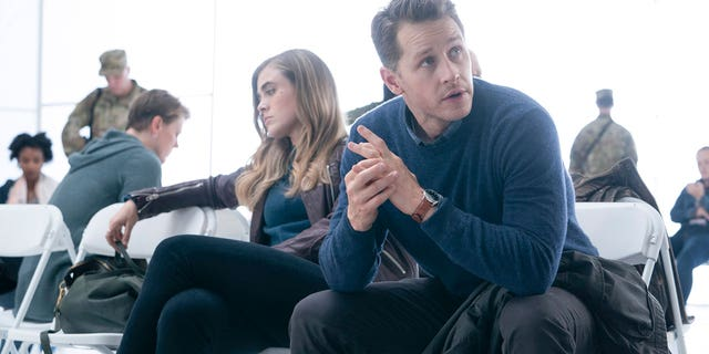 Melissa Roxburgh as Michaela Stone and Josh Dallas as Ben Stone in 'Manifest.' The show, formerly on NBC, was picked up for a fourth season by Netflix.
