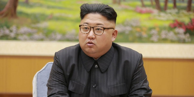 This picture taken on September 3, 2017 and released by North Korea's official Korean Central News Agency (KCNA) on September 4, 2017 shows North Korean leader Kim Jong-Un attending a meeting with a committee of the Workers' Party of Korea about the test of a hydrogen bomb, at an unknown location. (STR/AFP via Getty Images)