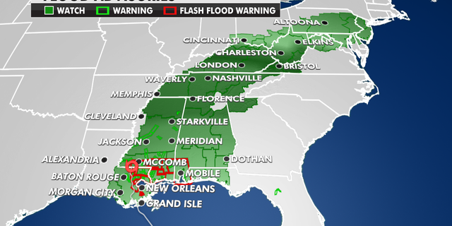 Flood advisories currently in effect.