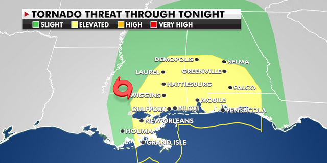 These areas are at risk of tornados Monday.