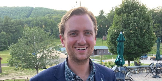 Former Trump State Department official Matt Mowers files his candidacy for the U.S. House in New Hampshire's 1st Congressional District. Mowers spoke with Fox News in Gilford, New Hampshire, on Aug. 21, 2021.