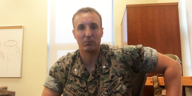 The Marine who blasted America's withdrawal from Afghanistan says he was forced to undergo a mental health check.