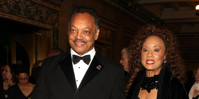 The Rev. Jesse Jackson and wife Jacqueline Jackson are seen in New York City, Dec. 2, 2009. (Getty Images)