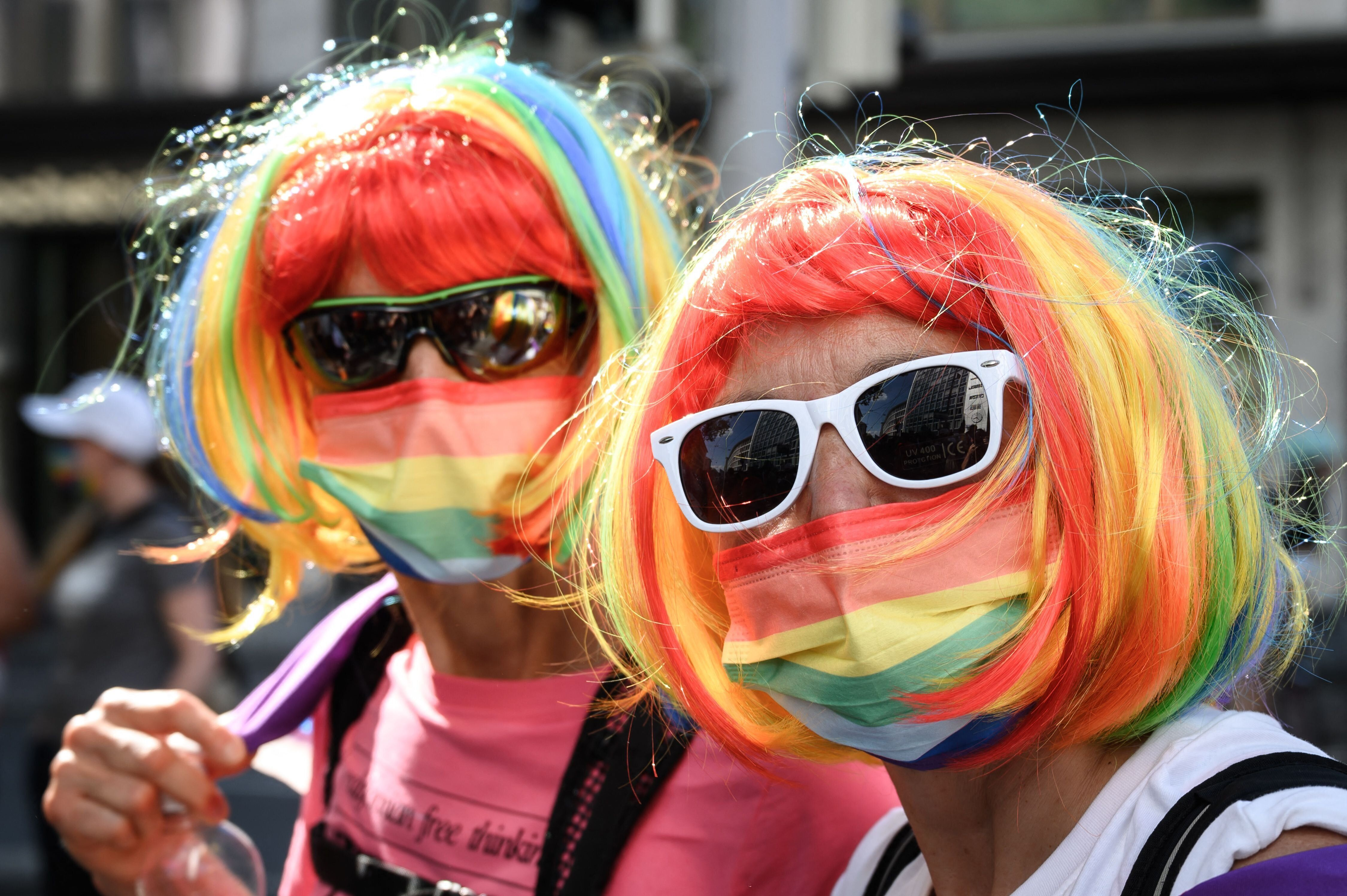 LGBTQ community members and allies take part in the Zurich Pride on Sept. 4.