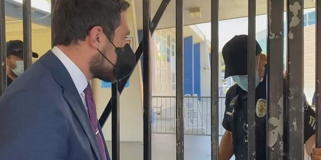 Democrat Kevin Paffrath says he was barred from entering a campaign event that portrayed the recall effort as a Republican stunt.